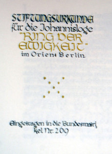 Stiftungsurkunde 1